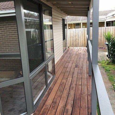 quality builder, granny flat, melbourne, merbau hardwood deck, balcony